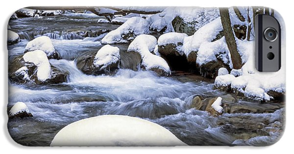Frigid iPhone Cases - Winter Leatherwood Creek iPhone Case by Thomas R Fletcher