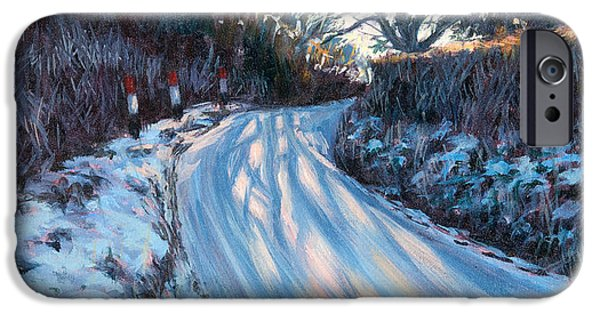 Winter Wonderland iPhone Cases - Winter Light iPhone Case by Tilly Willis