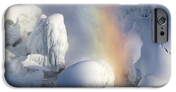 Niagara Falls iPhone Cases - Winter Magic in Niagara iPhone Case by Magda  Bognar