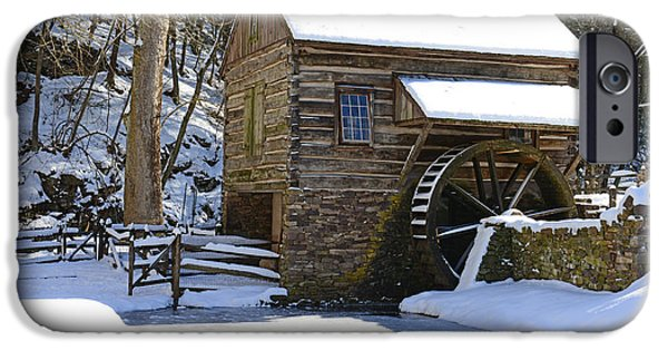 Grist Mill iPhone Cases - Winter Mill iPhone Case by Paul Ward