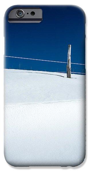 Farm iPhone Cases - Winter Minimalism iPhone Case by Edward Fielding