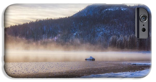 Water Photographs iPhone Cases - Winter Mist iPhone Case by Anthony Bonafede