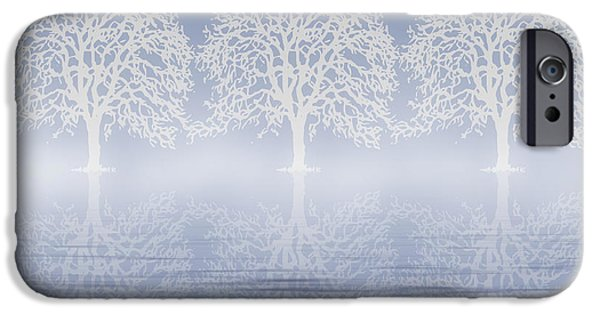 Business Digital iPhone Cases - Winter Mist On Water iPhone Case by Georgiana Romanovna