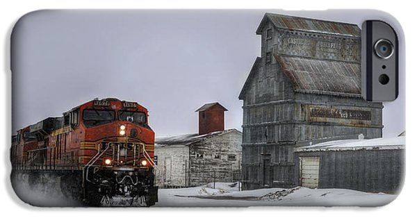 Northern Colorado iPhone Cases - Winter Mixed Freight Through Castle Rock iPhone Case by Ken Smith