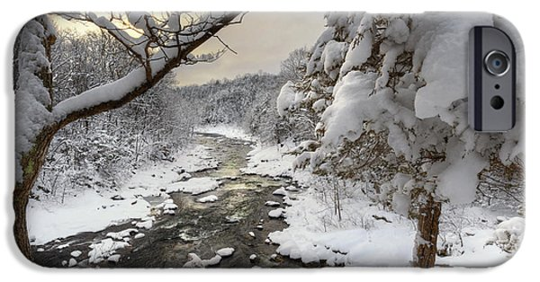 New England Snow Scene iPhone Cases - Winter Morning iPhone Case by Bill  Wakeley