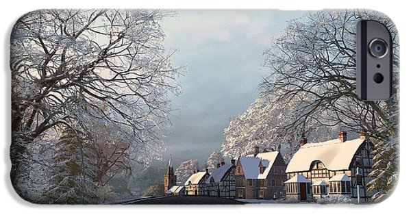 Winter Mornings iPhone Cases - Winter Morning iPhone Case by Dominic Davison