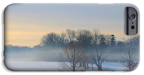 Recently Sold -  - Mist iPhone Cases - Winter Morning Fog iPhone Case by Steven Richman