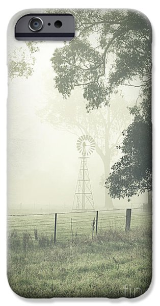 Winter Mornings iPhone Cases - Winter Morning Londrigan 9 iPhone Case by Linda Lees