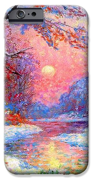 Winter Nightfall iPhone Case by Jane Small