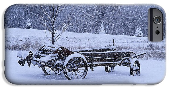 Machinery iPhone Cases - Winter Of Old iPhone Case by Jacki Smoldon