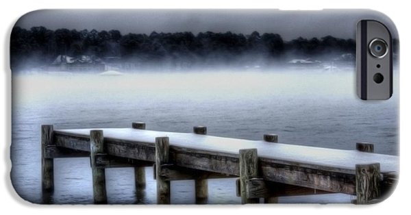 Winter Storm iPhone Cases - Winter on a Texas Lake iPhone Case by Danny Pickens