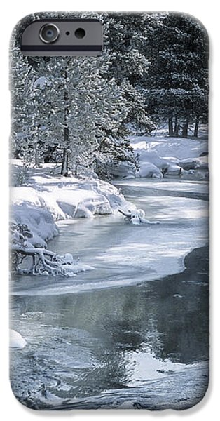 Winter on the Firehole River - Yellowstone National Park iPhone Case by Sandra Bronstein