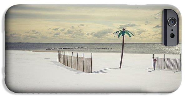 York Beach iPhone Cases - Winter Paradise iPhone Case by Evelina Kremsdorf