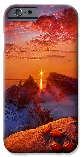 Frozen Lake iPhone Cases - Winter Peaks iPhone Case by Phil Koch