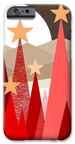 Winter Reds iPhone Case by Val Arie