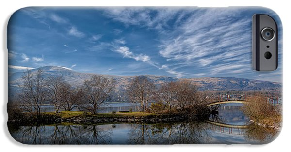 Autumn Digital iPhone Cases - Winter Reflections iPhone Case by Adrian Evans