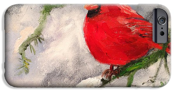 Zoology Paintings iPhone Cases - Winter Rest iPhone Case by Carole Foret