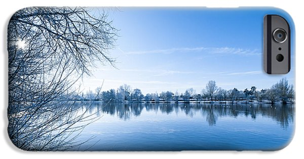 Snowy Stream iPhone Cases - Winter River iPhone Case by Svetlana Sewell