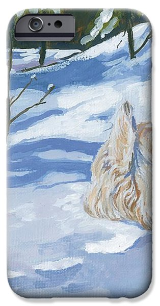 Winter Romp iPhone Case by Molly Poole