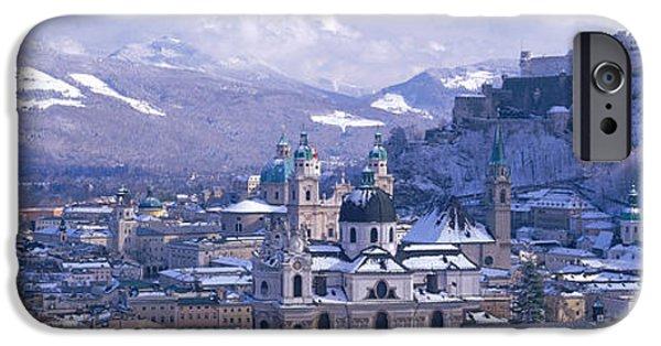Salzburg iPhone Cases - Winter, Salzburg, Austria iPhone Case by Panoramic Images