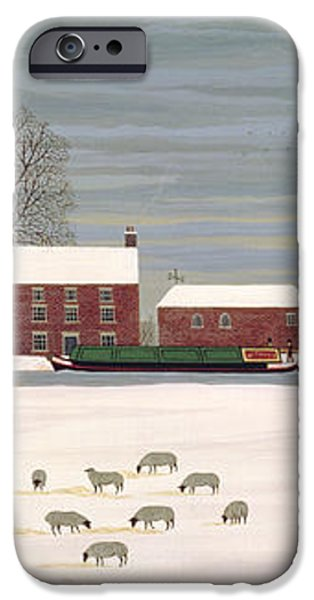 Winter Scene in Lincolnshire iPhone Case by Vincent Haddelsey