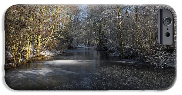 Snowy Stream iPhone Cases - Winter Scene iPhone Case by Svetlana Sewell