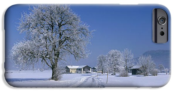 Fresh Snow iPhone Cases - Winter Scenic, Austria iPhone Case by Panoramic Images