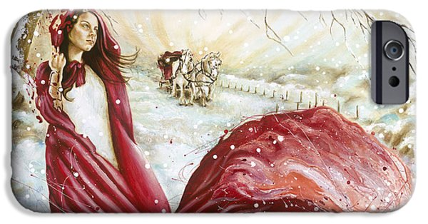 Figures Paintings iPhone Cases - Winter Scent iPhone Case by Karina Llergo Salto