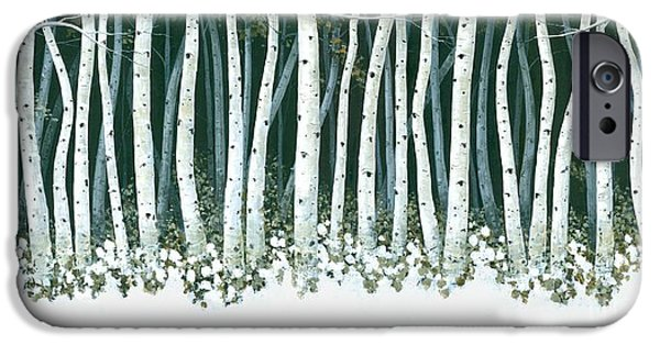Artist Michael Swanson iPhone Cases - Winter Sentinels  iPhone Case by Michael Swanson