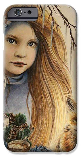 Snow Pastels iPhone Cases - Winter iPhone Case by Sheena Pike