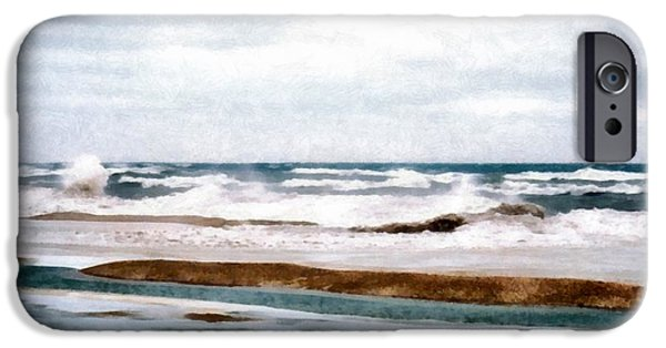 Wintertime iPhone Cases - Winter Shore iPhone Case by Michelle Calkins