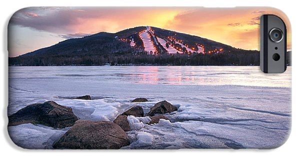 Maine Mountains iPhone Cases - Winter Sky iPhone Case by Darylann Leonard Photography