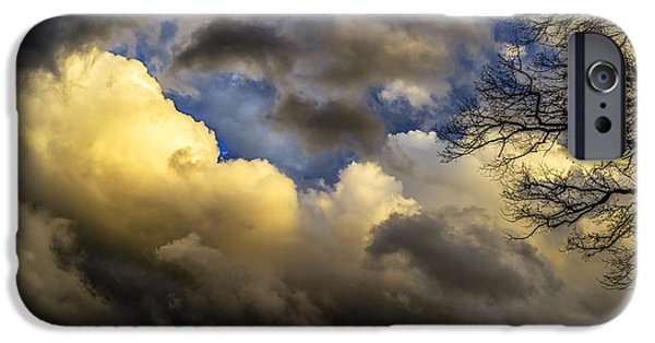 Colorful Cloud Formations iPhone Cases - Winter Sky Drama iPhone Case by Thomas R Fletcher