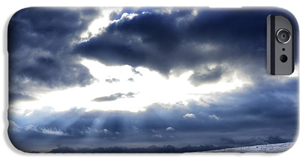 Winter Storm iPhone Cases - Winter Sky iPhone Case by Thomas R Fletcher
