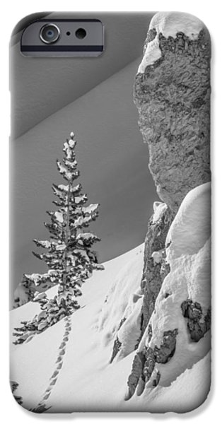 Pines iPhone Cases - Winter Slopescape iPhone Case by Jennifer Grover