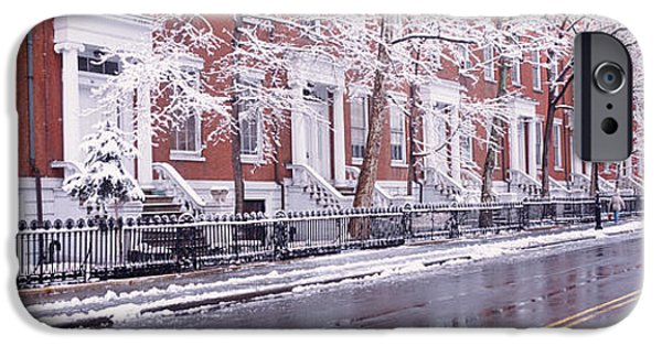 19th Century iPhone Cases - Winter, Snow In Washington Square, Nyc iPhone Case by Panoramic Images