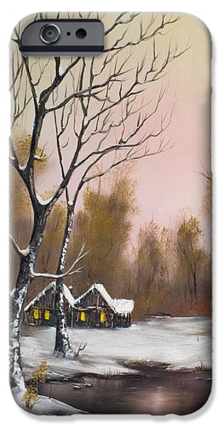 Best Sellers -  - Bob Ross Paintings iPhone Cases - Winter Solace iPhone Case by C Steele