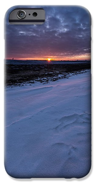 Snow Drifts Photographs iPhone Cases - Winter Solstice  iPhone Case by Aaron J Groen