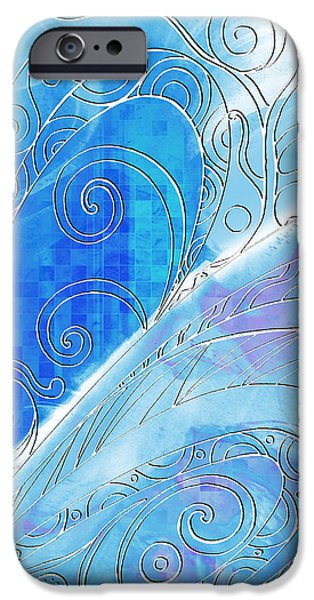 Wintertime Drawings iPhone Cases - Winter Solstice  iPhone Case by Shawna  Rowe
