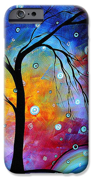 WINTER SPARKLE Original MADART Painting iPhone Case by Megan Duncanson