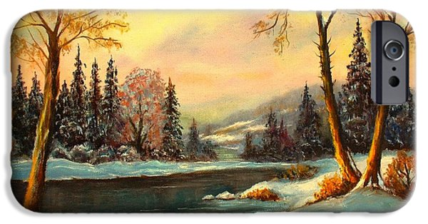 Winter Scene iPhone Cases - Winter Splendor iPhone Case by Hazel Holland