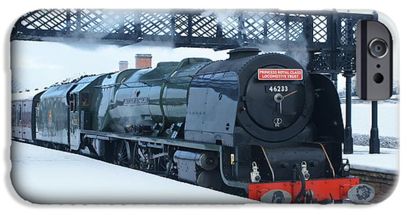 Duchess iPhone Cases - Winter Steam at Swanwick iPhone Case by David Birchall