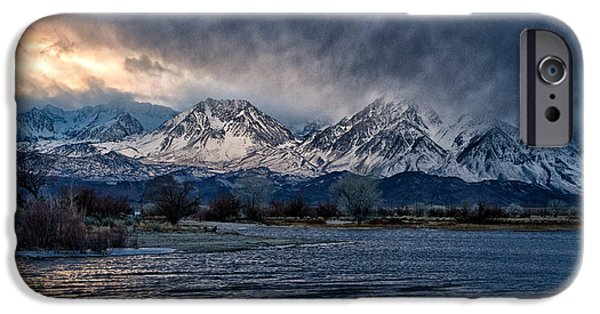 Winter Storm iPhone Cases - Winter Storm at Farmers Pond iPhone Case by Cat Connor