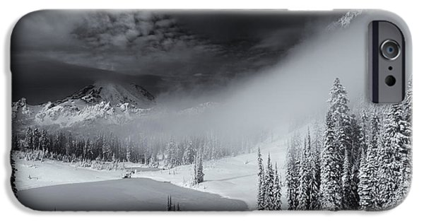 Wonderland iPhone Cases - Winter Storm Clears iPhone Case by Mike  Dawson
