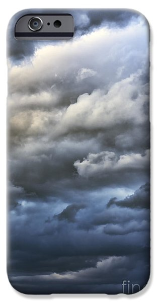 Winter Storm iPhone Cases - Winter Storm Clouds iPhone Case by Thomas R Fletcher