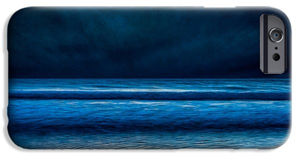 Ocean Photography iPhone Cases - Winter Storm iPhone Case by Susan Cole Kelly Impressions
