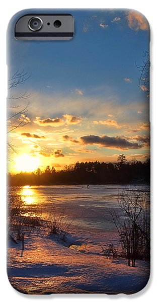 Winter Sundown iPhone Case by Joann Vitali