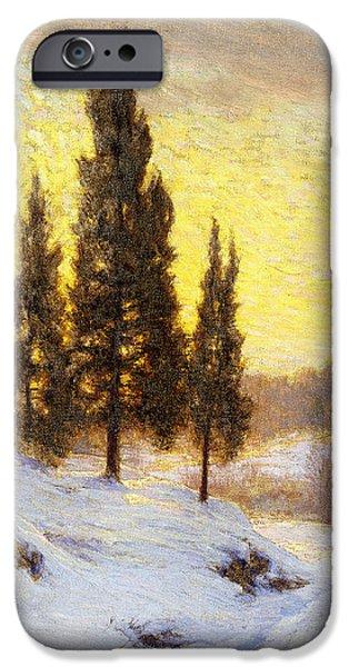 Winter Sundown iPhone Case by Walter Launt Palmer
