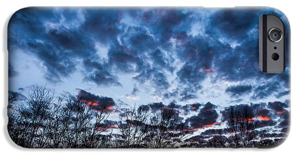 Multimedia iPhone Cases - Winter Sunrise 1 iPhone Case by Frank Mari