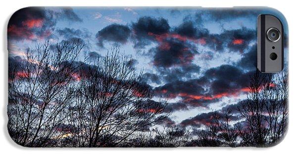 Multimedia iPhone Cases - Winter Sunrise 3 iPhone Case by Frank Mari